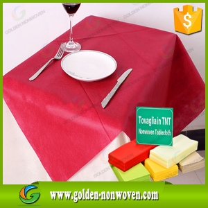Per Cut 1M x 1M PP Non Woven Tablecloth made by Quanzhou Golden Nonwoven Co.,ltd