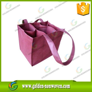 Offset Printing Promotional Nonwoven Wine Bag
