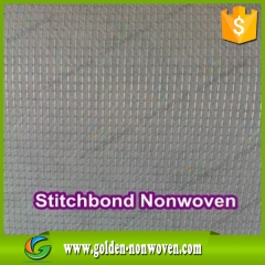 Vente en gros 100% polyester stich bonded non woven fabric faite par Quanzhou Golden Nonwoven Co., ltd