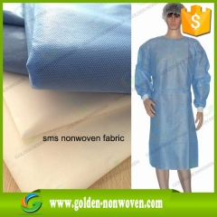 Tissu non tissé médical sss pour la fabrication d'un manteau chirurgical faite par Quanzhou Golden Nonwoven Co., ltd