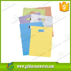Sac à main non tissé de 80gsm d-cut avec sérigraphie faite par Quanzhou Golden Nonwoven Co., ltd