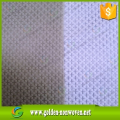 Cambrelle en nylon cross pattern, fabrication de tissu non tissé en nylon faite par Quanzhou Golden Nonwoven Co., ltd